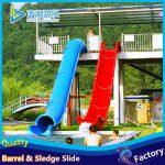 barrel sledge water slide