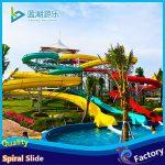 water spiral slide in water theme park equipment