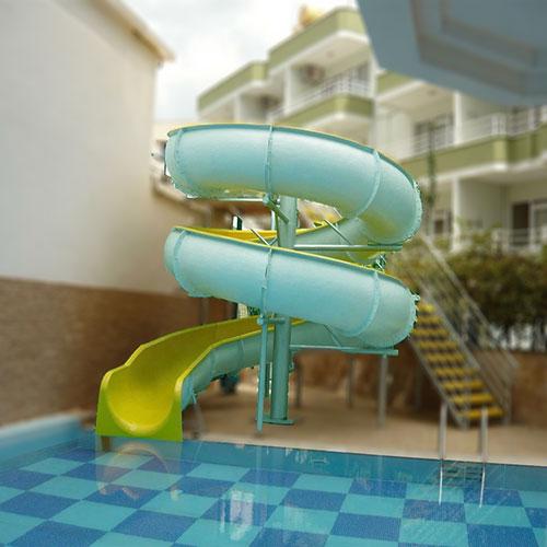 customized small fibreglass water slide