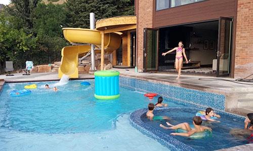 backyard-garden-pool-water-slide-for-private-villa