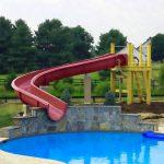 private house pool waterslide