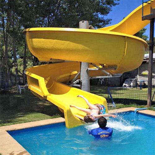 swimming pool water slide for family backyard garden